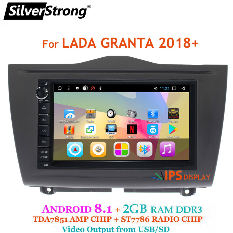 SilverStrong Android8.1 universel 1Din autoradio GPS Auto stéréo LADA GRANTA autoradio magnétophone pour Toyota/Nissan 707DT3 - 2