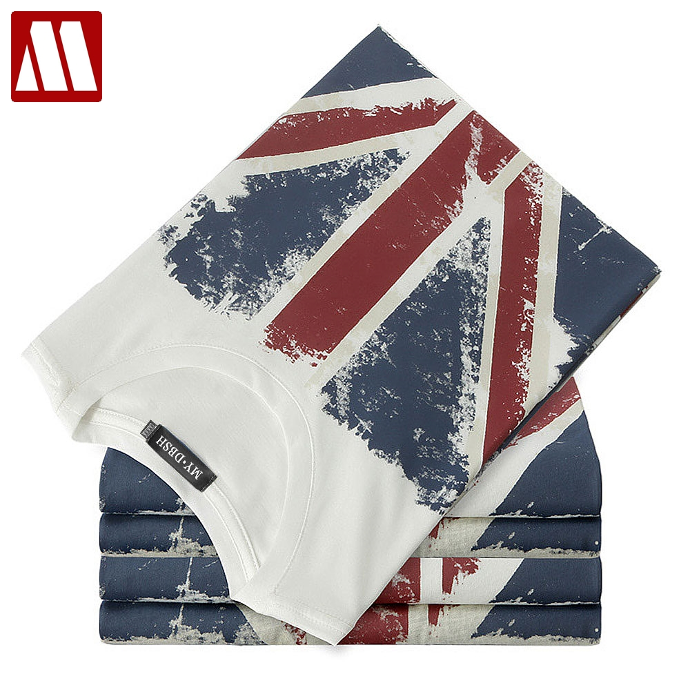 Tops & Tees Modest Mydbsh Brand Mens Cotton Union Jack Clothing Male Slim Fit Flag Tshirt Man Printed T Shirt Casual T-shirts Skateboard Swag D108 The Latest Fashion