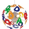 Английские буквы  светодиодные подвесные светильники  красочный шар  подвесной светильник для детей  детская спальня  светильники  подвеск...
