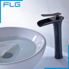 Классический Черный Масло Втирают Бронзовый Tall Водопад Бассейне Кран, ванная комната Ware Черный Ванной Кран Бассейна Кран