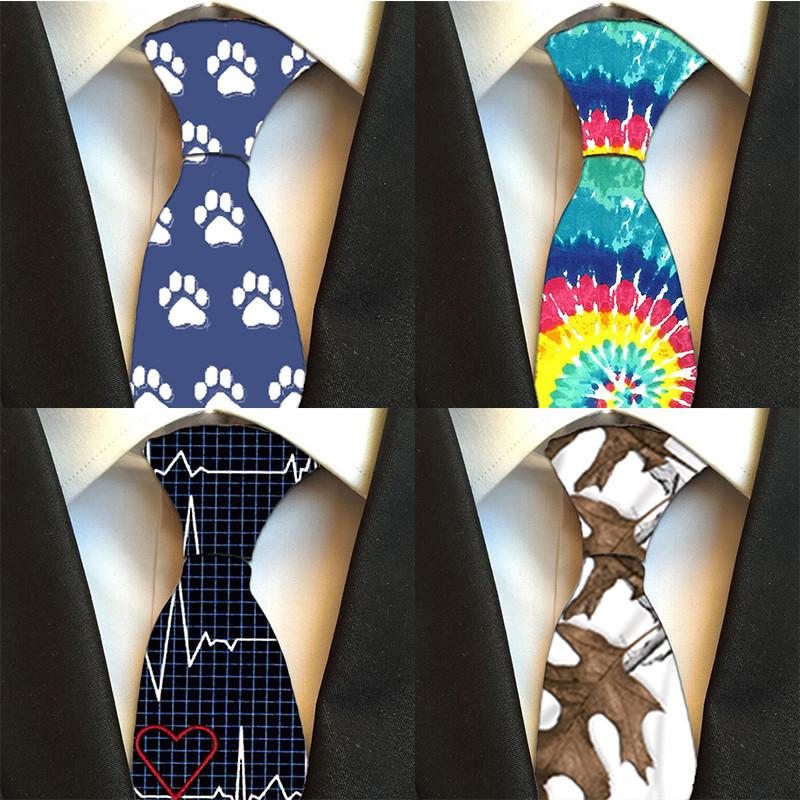 2019 Fashion Pattern Floral Ties For Men Free Shipping Men's Printed Necktie Polyester 8cm For Wedding Party Men's Ties 8JQ-LD31