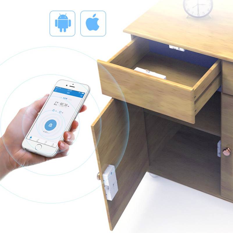 NEW Bluetooth Smart Digital Hidden Cabinet Drawer Lock Home Phone Safe Security