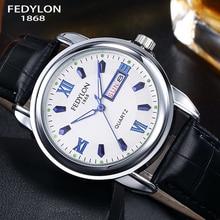 Top Luxury Brand Watches Men Leather Business WristWatch Mens Waterproof Calendar Quartz Watch Clock Hodinky reloj hombre 2016