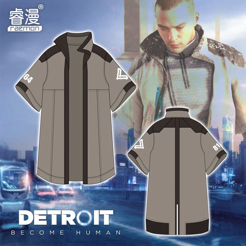 [STOCK] 2018 Hot Game Detroit: Become Human Markus Daily Cloth Cosplay Costume Unisex S XXL For Halloween Free Shipping New.