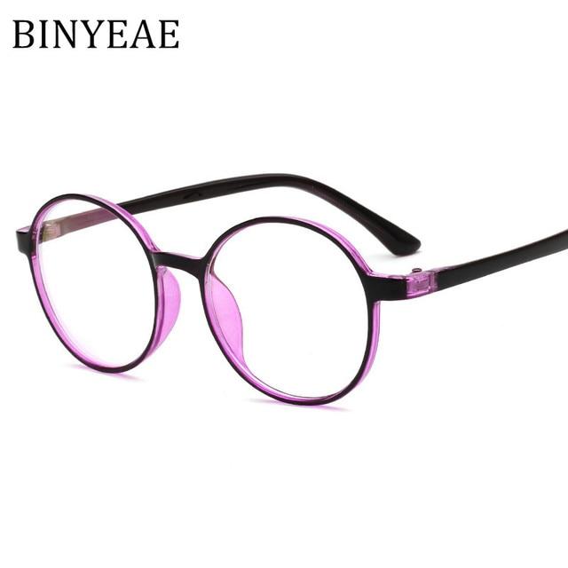 BINYEAE Brand TR 90 Flexible Frame Temple Glasses Vintage Eyeglasses ...