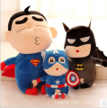 60CM Crayon Shin Chan Spider-Man, Captain America, Superman Stuffed Plush Doll Japanese Anime Action Figure For Best Gift