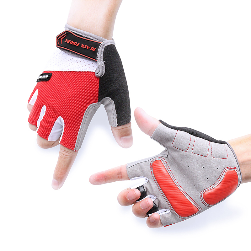 A Bike Cycling Glove for MTB Bicycle Men Women Half Finger Gel Pad Breathable Summer Sports Motorcycle Luva ciclismo bisiklet body building sports cyling half finger gloves for women black red