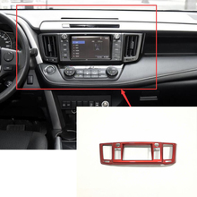 цена на For Toyota RAV4 2016 2017 ABS Chrome Accessories Car Styling Front Central Control Air Outlet Navigation Panel Frame Cover Trim
