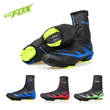 BATFOX Winter Cycling Shoes Cover Thermal Waterproof Fleece Overshoes Windproof Shoe Cover for Men Women MBT Road Bicycle Bike