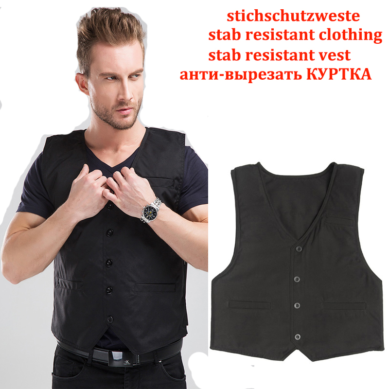 3 Story Stab Resistant Vest Lightweight Soft For Police Use V-neck Covert Schutzweste Tatico Self-defense Anti Stab Covert Vest