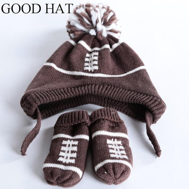 2 piece/ set  knitted hat gloves baby winter cap rabbit knit beanie bonnet warm hats for children  warmer  for