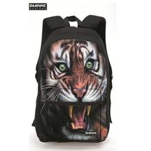 Модные 3D зоопарк животных Тигр мужские рюкзаки Bagpack собака печать рюкзак для подростков для мальчиков и девочек для отдыха ноутбука Mujer рюкзак