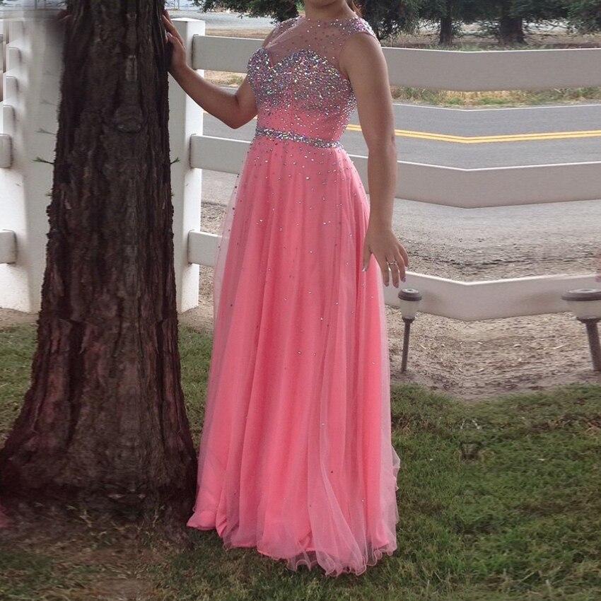 Vestidos de graduacion 2015 Nueva Llegada de La Manera de Coral Rosa ...