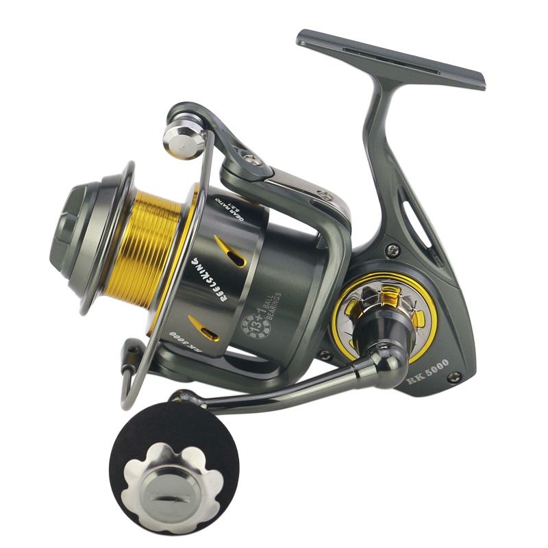REELSKING Spinning Carretel De Pesca de Metal