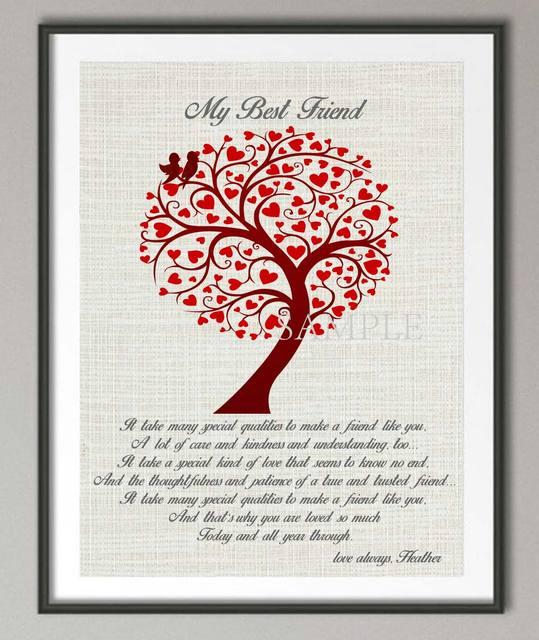 Personalisierte Geschenk Fur Freund Beste Freundin Zitieren Plakat