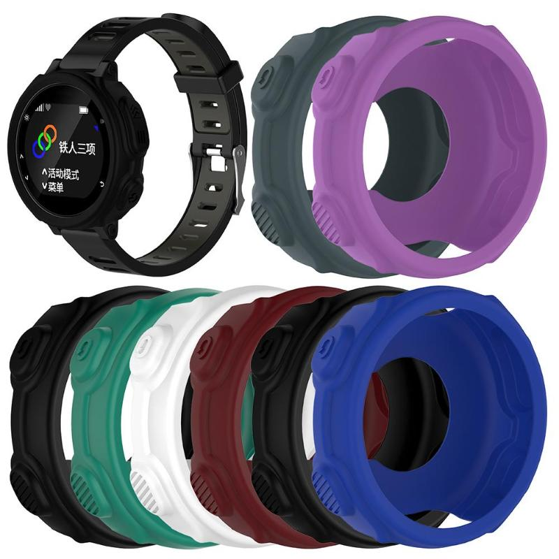 Replacement Smart Protector Case Silicone Skin Protective Case Cover 8 Colors For Garmin Forerunner 235 735XT Sports Watch
