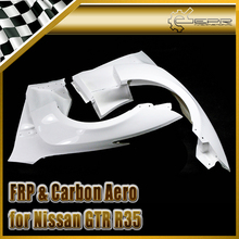Discount For Nissan GTR R35 2013 VRS FRP Front Fender with louver fin (Inc 6 fins,side maker use F51 Fuga)(For OE front bumper) все цены