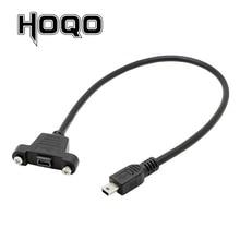 لوحة جبل البسيطة USB Scoket USB البسيطة B 5Pin موصل الذكور إلى الإناث تمديد كابل مع برغي محطة دافق 30 سنتيمتر 50 سنتيمتر 1 قدم