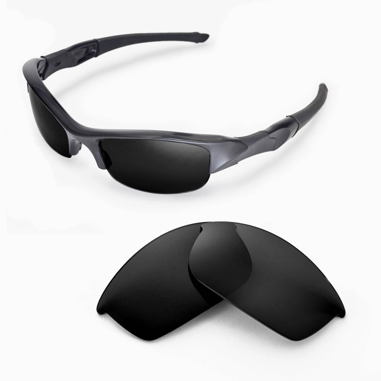 Walleva Polarized Replacement Lenses for Oakley Flak Jacket Sunglasses 3  colors available