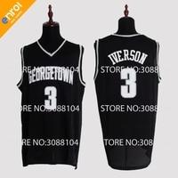Retro Cheap Allen Iverson Jerseys 3 Georgetown University Hoyas Throwback High Quality Stitched Basketball Shirts Men