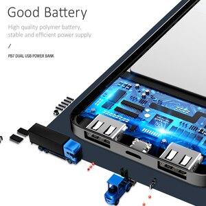 Image 5 - USAMS נייד 10000 mAh כוח בנק Slim חיצוני סוללה 10000mah עבור iPhone Xiaomi Huawei Oneplus כפולה USB מטען Powerbank