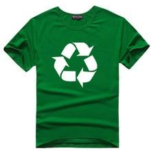 Recycle Logo T-Shirt 7 Colors Men Science Geek Tshirt Cotton T Shirts Tee Sheldon Cooper