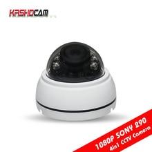 1080P AHD/TVI/CVI/CVBS CCTV camera 4 in 1 sony imx323 sensor 3.6mm HD 2.0MP Lens Plastic room dome indoor security CCTV