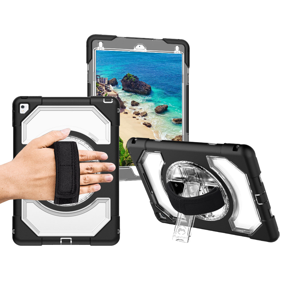 Miesherk Case for iPad Pro 9.7 Shockproof Heavy Duty Armor 360 Degree Rotating Hidden Kickstand for iPad A1673 A1674 A1675 Price $32.95