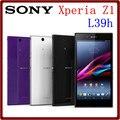 C6903 Оригинальный Разблокирована Sony Xperia Z1 L39H C6903 16 ГБ ROM 2 ГБ RAM 3 Г 20.7MP 5.0 ''Quad Core 3000 мАч Смартфон Бесплатно доставка