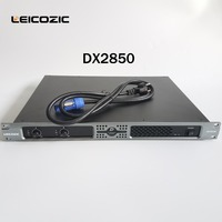 Leicozic DX2850 1u amplifiers 1400w RMS amplificador audio 2 channel amps high power amplifier professional stage sound systems
