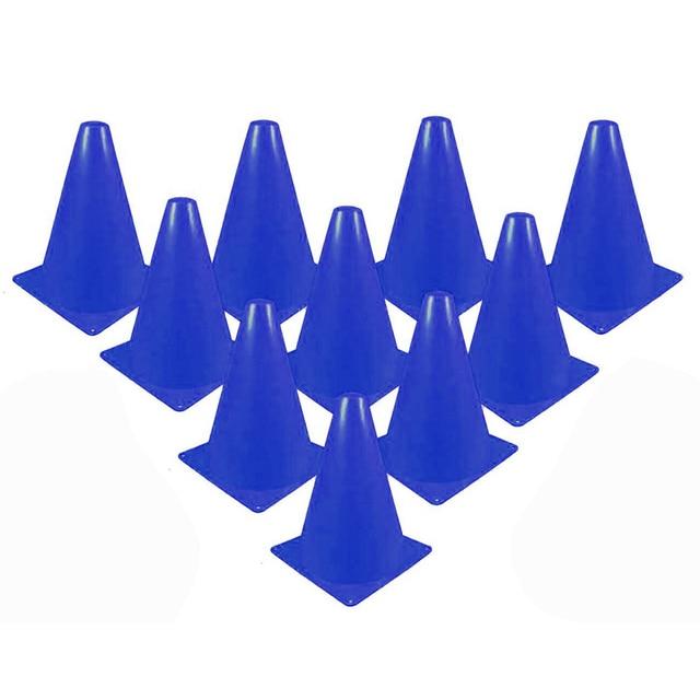 10 יחידות inline החלקה על סקייטבורד ציוד אימוני מהירות כדורגל רוגבי כוס סימן כוס הערימה להחליק רולר סלאלום קונוסים סמן חלל