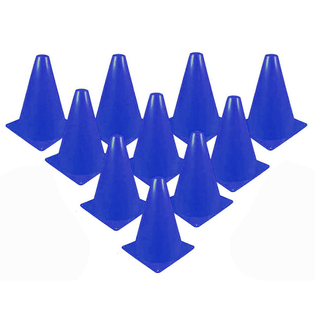10pcs inline skating Skateboard Mark Cup Soccer Rugby Speed training Equipment Space Marker Cones Slalom Roller skate pile cup