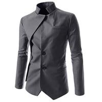 New Brand 2018 Men's Blazer Jacket Men Casual Asymmetric Blazer Mens Style Autumn Irregular Slim Fit Suit Coat