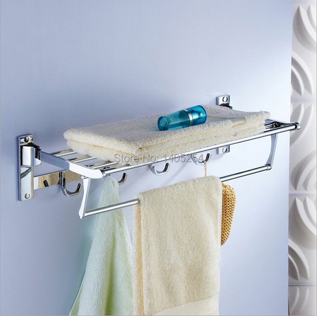Stainless steel towel rack towel rack folding rack bathroom bathroom ...