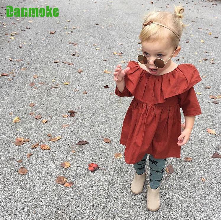 Danmoke Ins Bahar Yay Uşaq Geyimləri Moda Qız Vestido Təsadüfi - Uşaq geyimləri - Fotoqrafiya 3