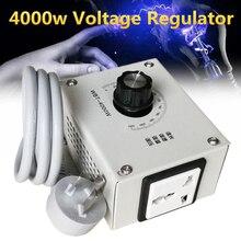 MINI 4000 واط التيار المتناوب 220 فولت SCR الجهد منظم ضغط سرعة المحرك تحكم ترموستات ضوء باهتة ثنائية الاتجاه رقاقة التكنولوجيا