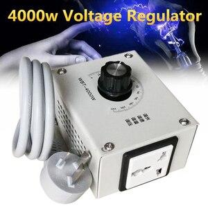Image 1 - MINI 4000 W 220 V AC napięcia SCR ciśnienia silnik regulatora prędkości kontroler termostat ściemniacz światła dwukierunkowy układ technologii
