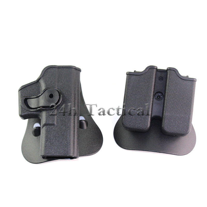 IMI Style Polymer RH Pistol & Magazine Pouch Paddle Holster Fits Glock  17/19 Hunting Gun Accessories Wholesale