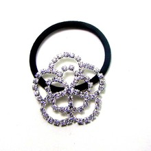 Buy silver rhinestone ponytail holder and get free shipping on ... 59bc4d5d0fce