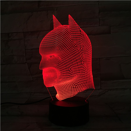 7 Colors Led Toys Batman Figure 3D Table Lamp Action Figures Batman Arkham Knight The Avengers Party DC Comics The Joker Mask neca dc comics batman arkham origins super hero 1 4 scale action figure
