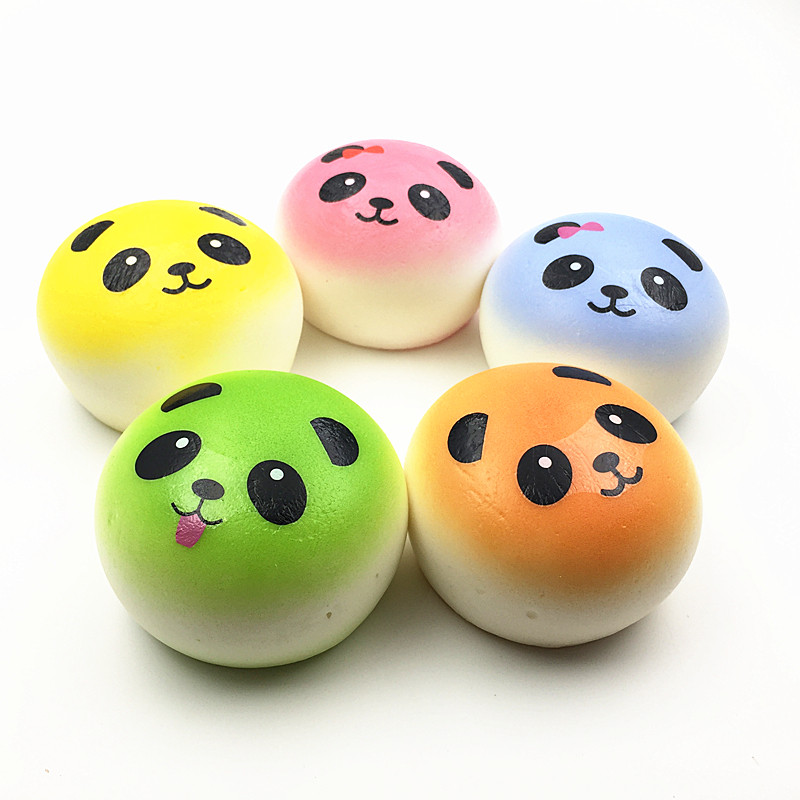 100Pcs Fun Squishies Mini Colorful Panda Squishy Kawaii Jumbo Squeeze Toys For Children Cell Phone Straps Wholesale ...