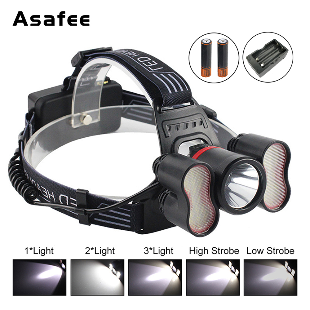 Cree XML T6 LED Headlamp 5 Modes White Light Sensor Headlamp 18650 Rechargeable Battery Head Torch For Camping Fishing Hunting maimu 8000lm usb power led headlamp cree xml t6 3 modes rechargeable headlight head lamp torch for hunting 18650 head light d14