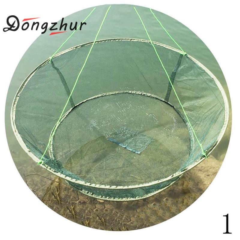 Dongzhur Gaiola De Pesca Rodada de Pesca Artes de Pesca Portátil Dobrável Fundição de Peixes Camarão Net Camarão Net Redes de Lagostas Catcher