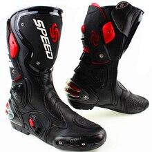 Ботинки в байкерском стиле; обувь для мотогонок; обувь для мотокросса; ботинки для внедорожников; Цвет черный, белый, красный; размеры 40, 41, 42, 43, 44, 45