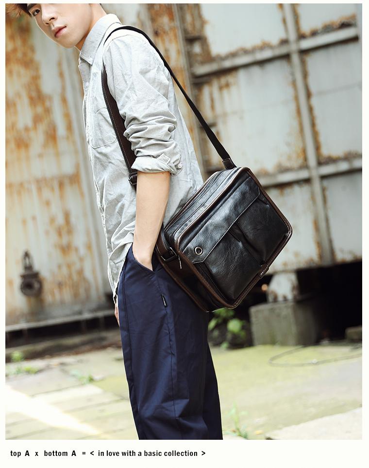 Tidog Business casual bag Satchel singles tide shoulder bag 18