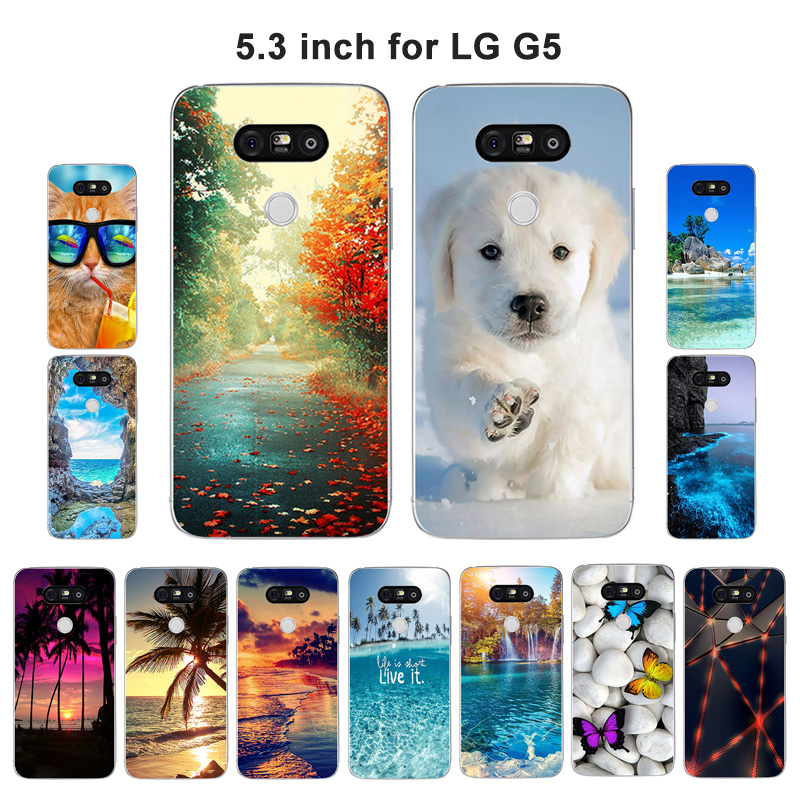 Case For LG G5 Case Cover Scape Printed For LG G5 Cover Phone Case Soft Silicon For LG G5 H830 H840 H845 H850 LGG5 Case