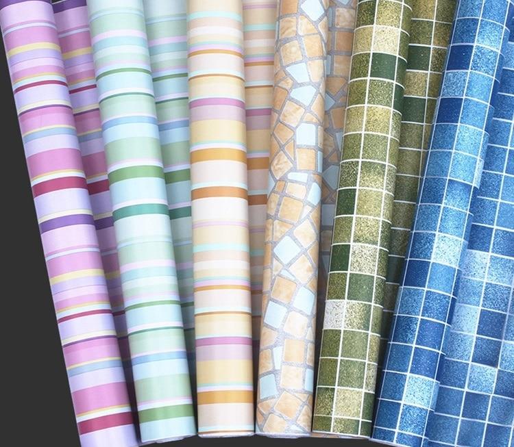 5Meters Roll Self adhesive mosaic wallpaper peelstick oilwaterproof PVC vinyl tile wall paper