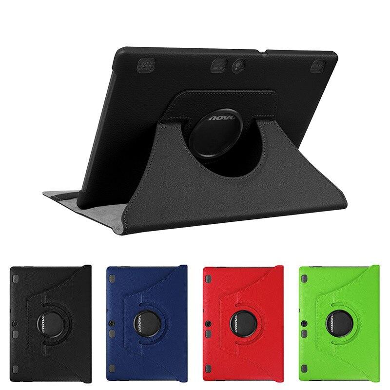 360 Rotativa Estojo De Couro PU para Lenovo Tab 2 A10-70F/L A10-30 X30F/M Guia 3X70 x70F X70M Tab 10 TB-X103F X103F case + Filme + Caneta