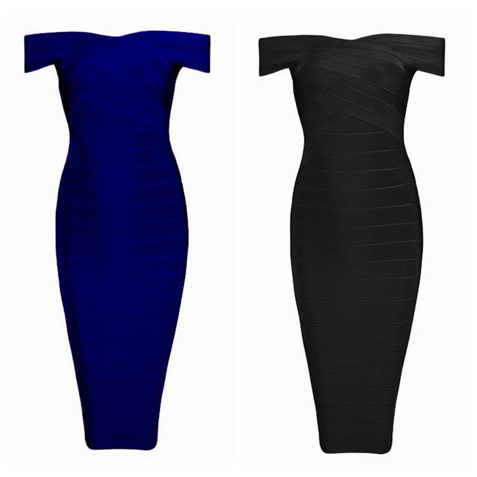 17 Summer Bandage Dress Women Short Sleeve Off Shoulder Celebrity Party Black Sexy Night Out Dress Women Wholesale Vestidos 9