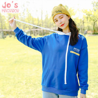 Long Sleeved Pullovers Hoodies Women Kawaii Sweatshirt Ulzzang Ladies Tracksuit Streetwear Hoodies Women Preppy Style Blue Tops